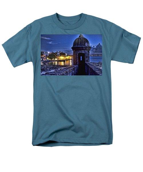 Viejo San Juan En La Noche Men's T-Shirt  (Regular Fit) by Daniel Sheldon
