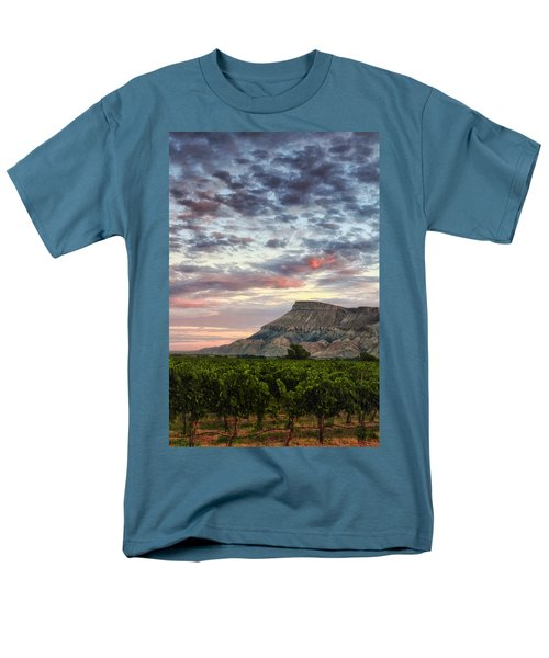 Vineyards And Mt Garfield Men's T-Shirt  (Regular Fit) by Ronda Kimbrow