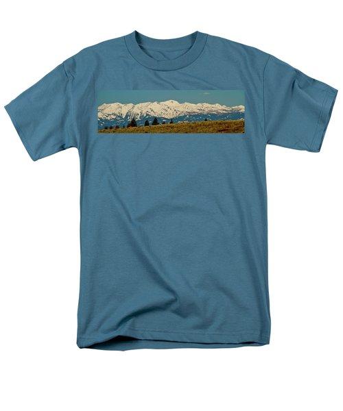 Wallowa Mountains Oregon Men's T-Shirt  (Regular Fit) by Ed  Riche