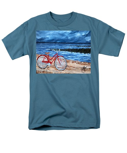 Men's T-Shirt  (Regular Fit) featuring the painting Watching The Storm by Jackie Carpenter