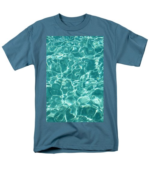Water Meditation I. Five Elements. Healing With Feng Shui And Color Therapy In Interior Design Men's T-Shirt  (Regular Fit) by Jenny Rainbow