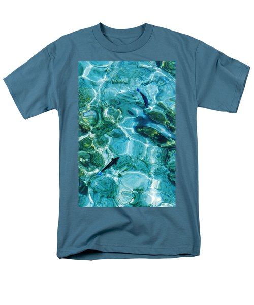 Water Meditation II. Five Elements. Healing With Feng Shui And Color Therapy In Interior Design Men's T-Shirt  (Regular Fit) by Jenny Rainbow