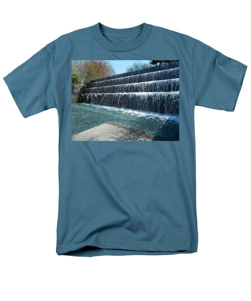 Men's T-Shirt  (Regular Fit) featuring the photograph Waterfall Heaven by Emmy Marie Vickers