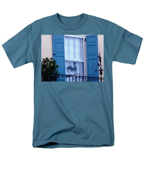 Men's T-Shirt  (Regular Fit) featuring the photograph Charleston Weathervane Reflection by Kathy Barney