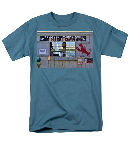 Wellfleet Harbor Thru The Window Men's T-Shirt  (Regular Fit) by Allen Beatty