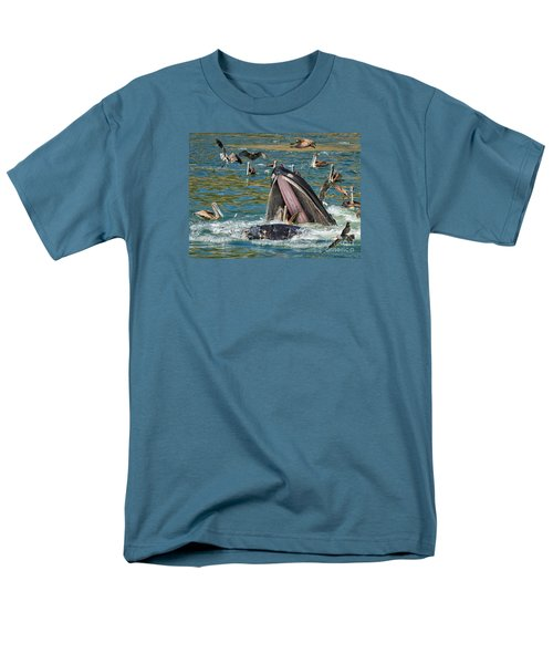 Whale Almost Eating A Pelican Men's T-Shirt  (Regular Fit) by Alice Cahill