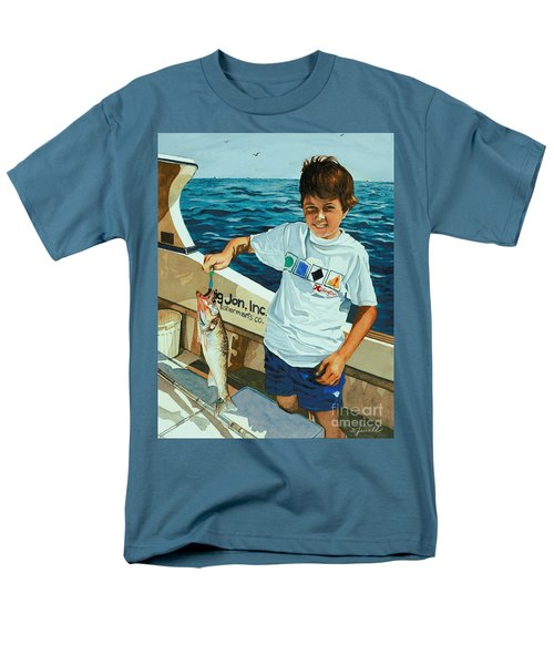 Men's T-Shirt  (Regular Fit) featuring the painting What A Catch by Barbara Jewell
