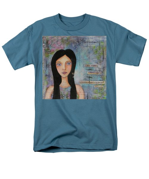 Men's T-Shirt  (Regular Fit) featuring the painting What Is A Friend # 2 by Nicole Nadeau