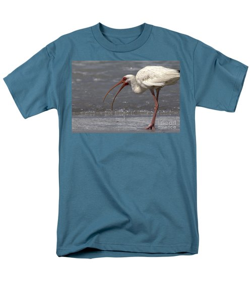 Men's T-Shirt  (Regular Fit) featuring the photograph White Ibis On The Beach by Meg Rousher