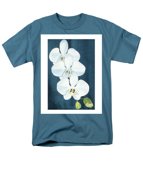 White Orchids Men's T-Shirt  (Regular Fit) by C Sitton