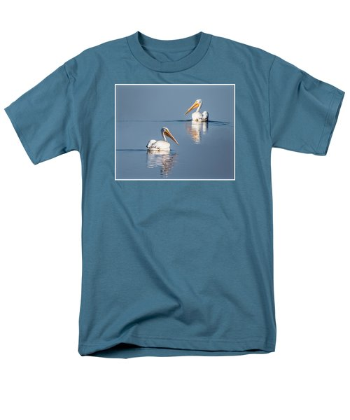 Men's T-Shirt  (Regular Fit) featuring the photograph White Pelicans by Patti Deters