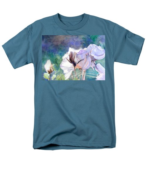 Men's T-Shirt  (Regular Fit) featuring the painting White Roses In The Shade by Greta Corens