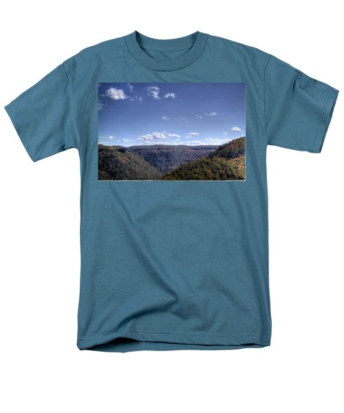 Men's T-Shirt  (Regular Fit) featuring the photograph Wide Shot Of Tree Covered Hills by Jonny D