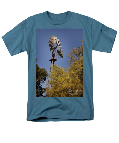 Windmill Men's T-Shirt  (Regular Fit) by David Millenheft