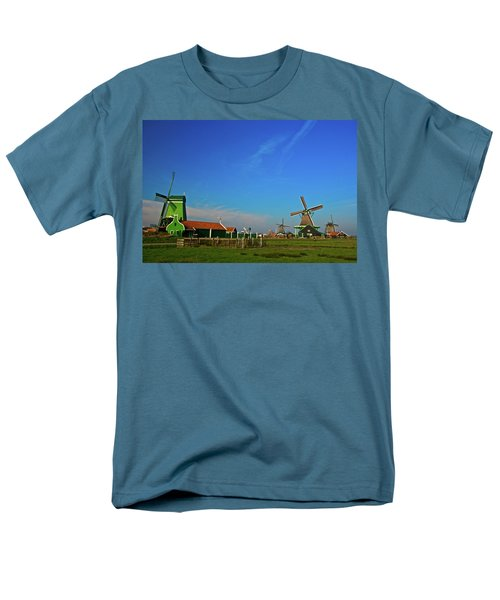 Windmills At Zaanse Schans Men's T-Shirt  (Regular Fit) by Jonah  Anderson