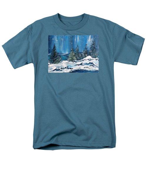 Winter Night Men's T-Shirt  (Regular Fit) by Teresa Wegrzyn