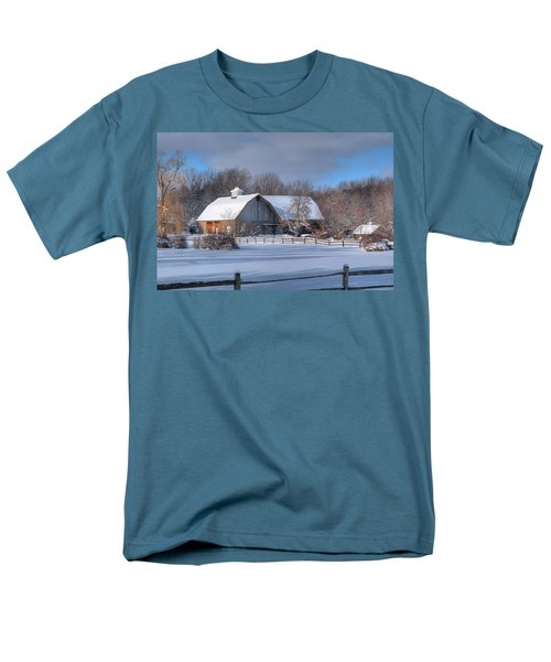 Men's T-Shirt  (Regular Fit) featuring the photograph Winter On The Farm 14586 by Guy Whiteley