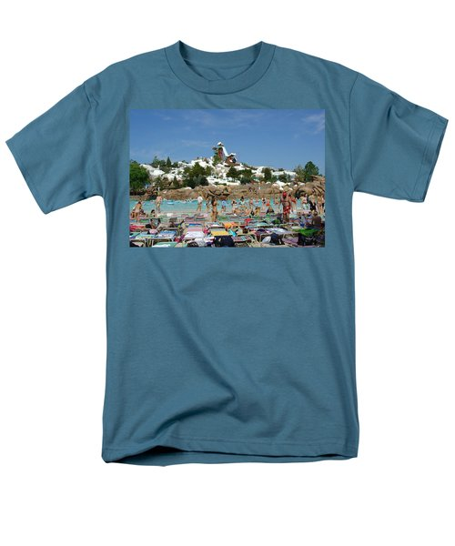 Men's T-Shirt  (Regular Fit) featuring the photograph Winter Shore Line by David Nicholls