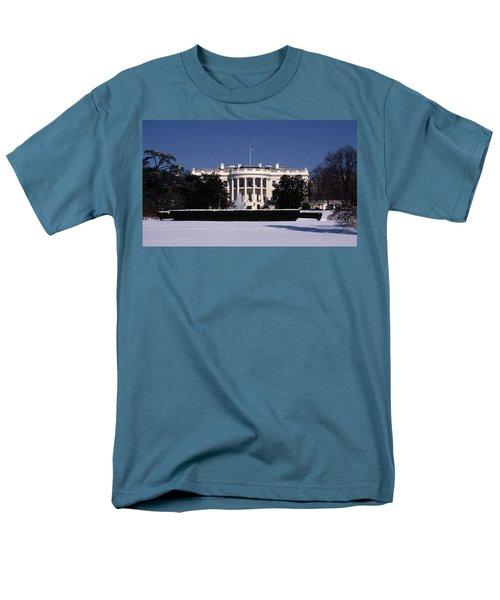 Winter White House  Men's T-Shirt  (Regular Fit) by Skip Willits