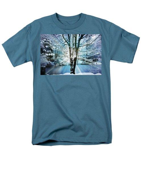 Men's T-Shirt  (Regular Fit) featuring the photograph Winter Wonderland by Judy Palkimas