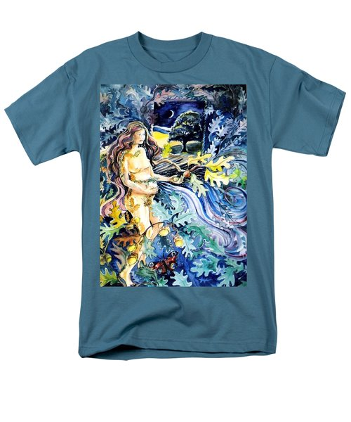 Men's T-Shirt  (Regular Fit) featuring the painting Woman Holding An Acorn -  by Trudi Doyle