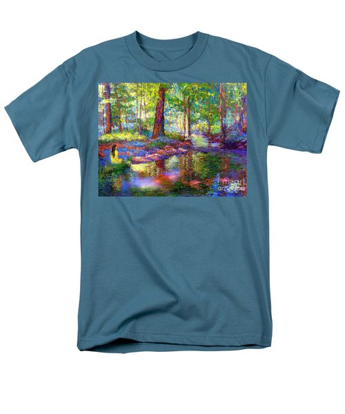 Men's T-Shirt  (Regular Fit) featuring the painting Woodland Rapture by Jane Small