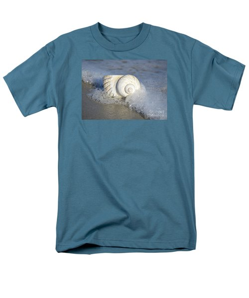Men's T-Shirt  (Regular Fit) featuring the photograph Worn By The Sea by Kathy Baccari