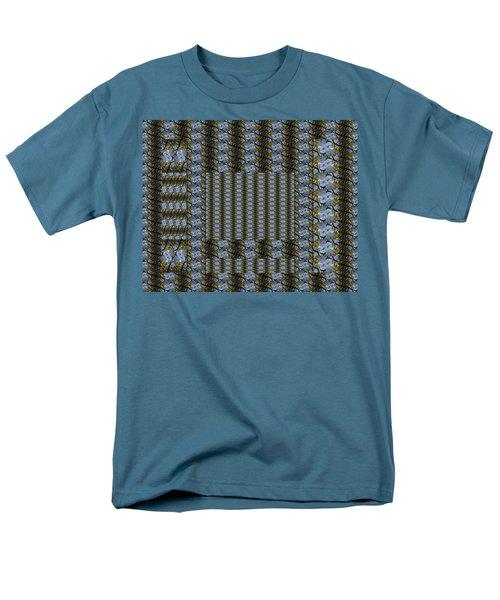 Woven Blue And Gold Mosaic Men's T-Shirt  (Regular Fit)