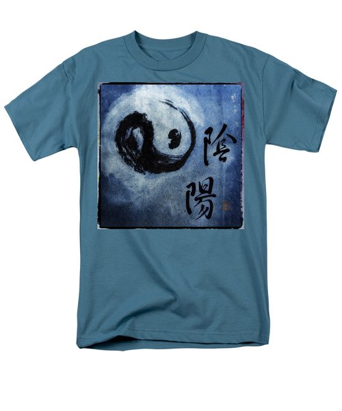 Men's T-Shirt  (Regular Fit) featuring the photograph Yin  Yang Brush Calligraphy by Peter v Quenter