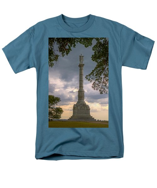 Yorktown Victory Monument Men's T-Shirt  (Regular Fit) by Jerry Gammon