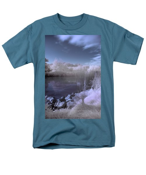 Men's T-Shirt  (Regular Fit) featuring the photograph  Infrared Pond by Beverly Cash