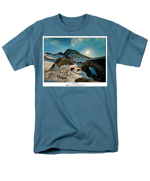 Spring Snows At Tryfan Men's T-Shirt  (Regular Fit) by Beverly Cash