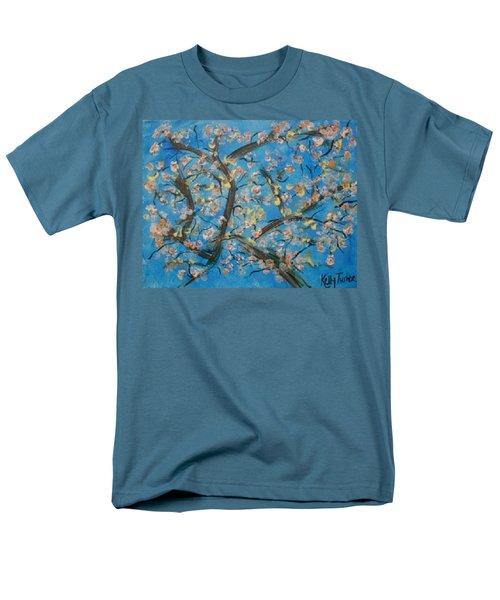 Almond Blossom  Men's T-Shirt  (Regular Fit) by Kelly Turner