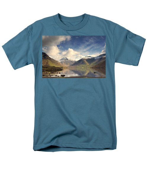 Men's T-Shirt  (Regular Fit) featuring the photograph Mountains And Lake At Lake District by John Short