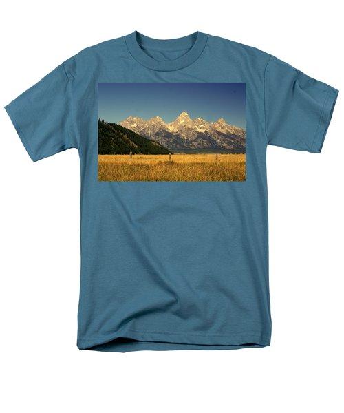 Men's T-Shirt  (Regular Fit) featuring the photograph Tetons 3 by Marty Koch