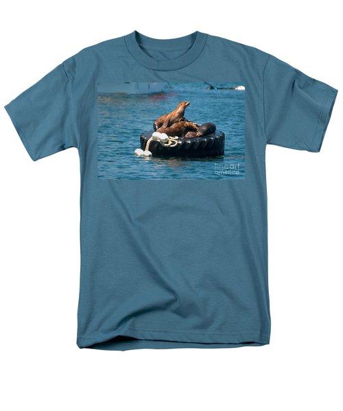 Monterey Harbour Men's T-Shirt  (Regular Fit) by Carol Ailles