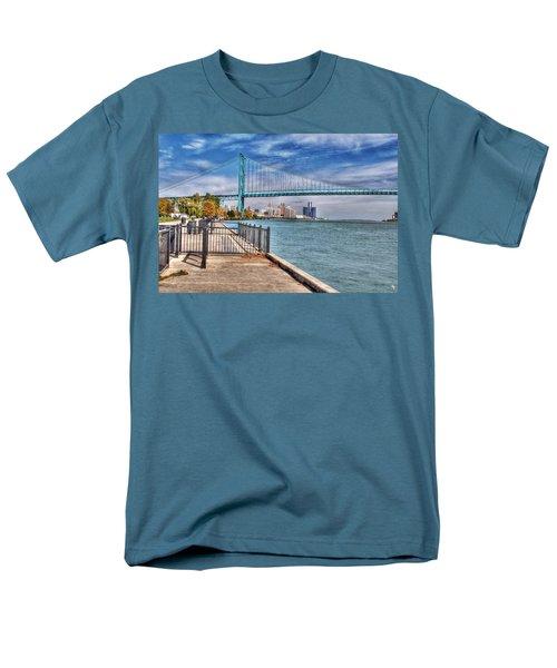 Ambassador Bridge Detroit Mi Men's T-Shirt  (Regular Fit) by Nicholas  Grunas