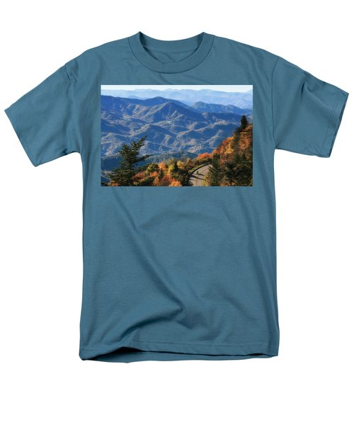 Men's T-Shirt  (Regular Fit) featuring the photograph Autumn On The Blue Ridge Parkway by Lynne Jenkins