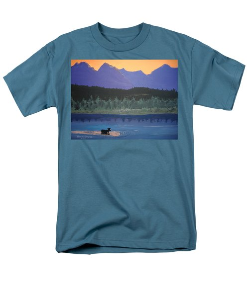 Men's T-Shirt  (Regular Fit) featuring the painting Big Sky Country by Norm Starks
