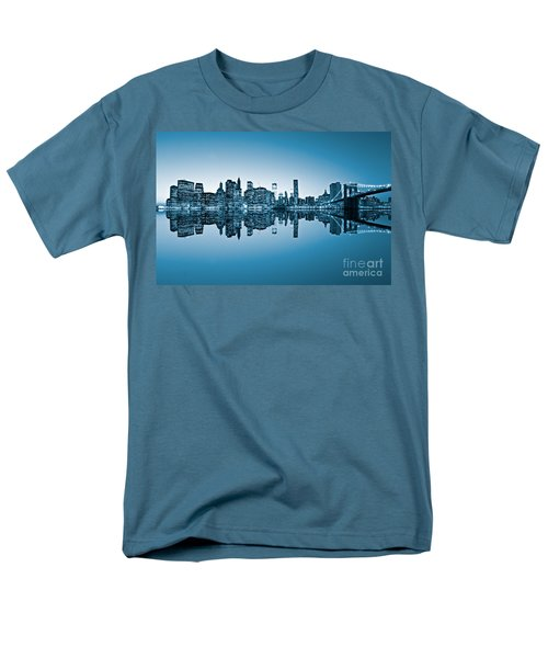 Men's T-Shirt  (Regular Fit) featuring the photograph Blue New York City by Luciano Mortula