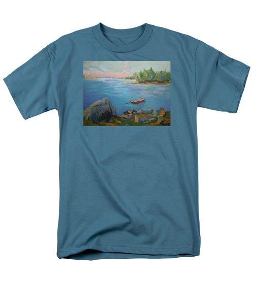 Boat And Bay Men's T-Shirt  (Regular Fit) by Francine Frank