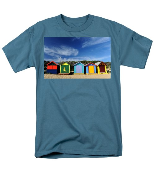 Men's T-Shirt  (Regular Fit) featuring the photograph Brighton Beach by Yew Kwang
