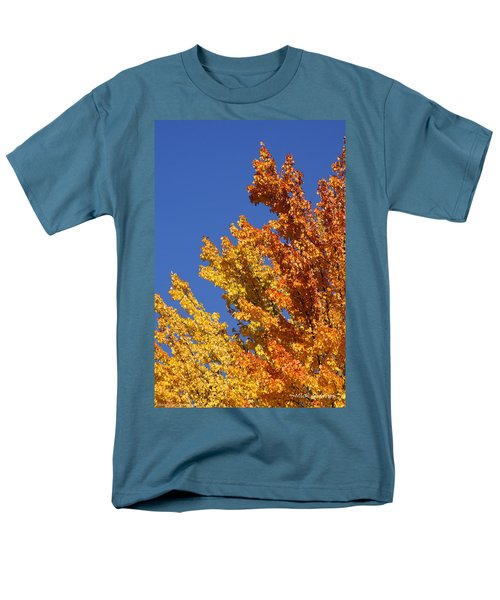 Brilliant Fall Color And Deep Blue Sky Men's T-Shirt  (Regular Fit) by Mick Anderson