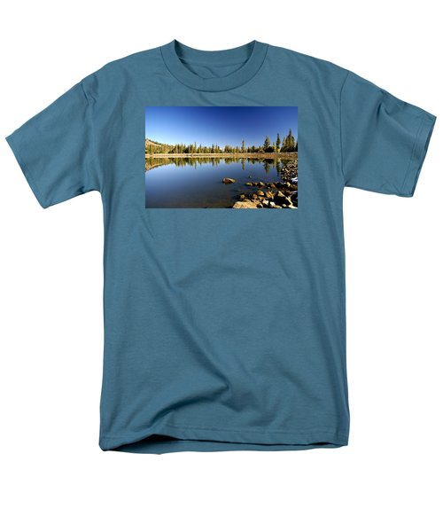 Calm Day On Red Lake Men's T-Shirt  (Regular Fit) by Michael Courtney
