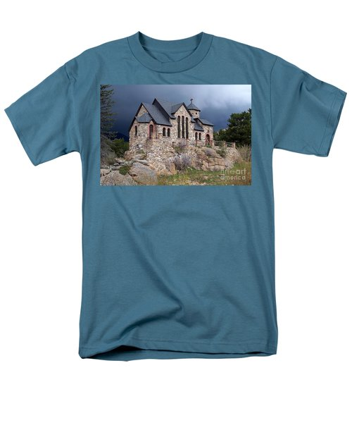 Chapel On The Rocks No. 1 Men's T-Shirt  (Regular Fit) by Dorrene BrownButterfield