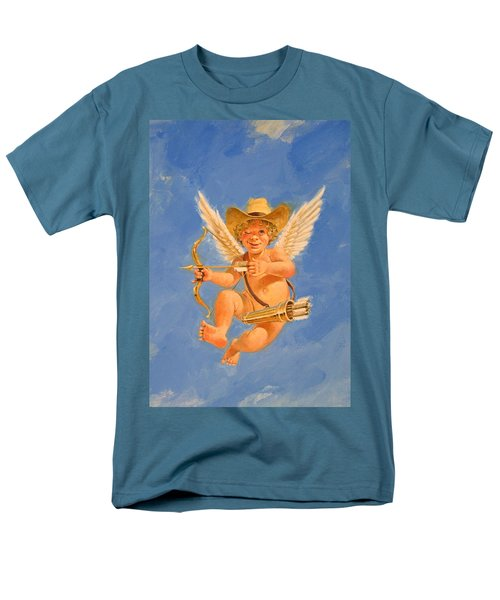Cow Kid Cupid Men's T-Shirt  (Regular Fit) by Cliff Spohn