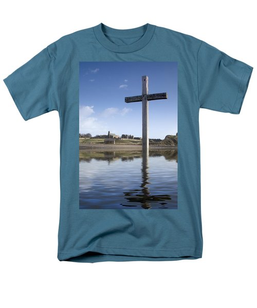 Men's T-Shirt  (Regular Fit) featuring the photograph Cross In Water, Bewick, England by John Short