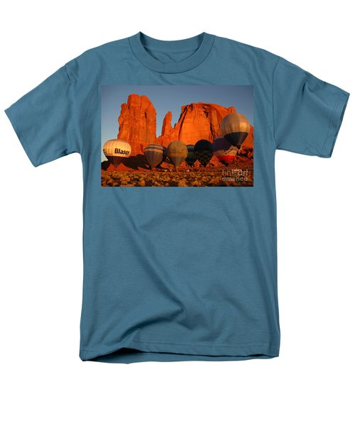 Dawn Flight In Monument Valley Men's T-Shirt  (Regular Fit) by Vivian Christopher