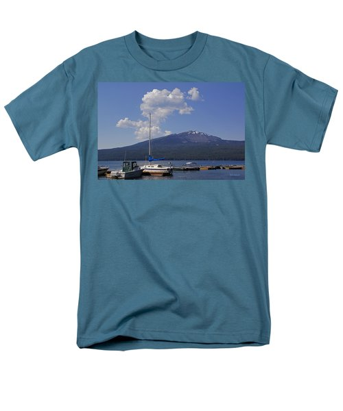 Men's T-Shirt  (Regular Fit) featuring the photograph Docks At Diamond Lake by Mick Anderson