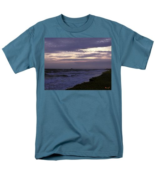 Men's T-Shirt  (Regular Fit) featuring the photograph Fishing Pier Before The Storm 14a by Gerry Gantt